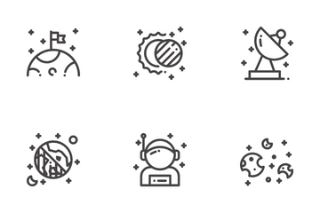Space (Outline) Icon Pack