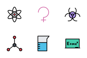 Spaces & Science Colored Icon Pack