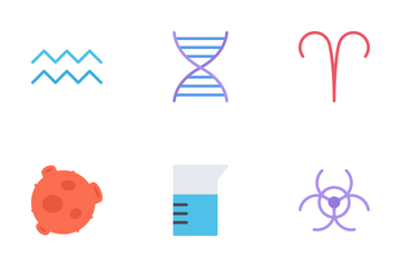 Spaces & Science Flat Icon Pack