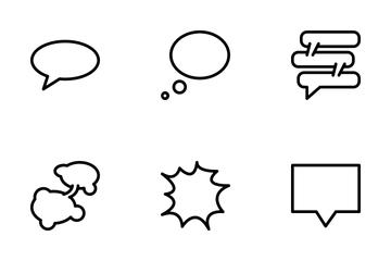 Speech Bubbles  Icon Pack