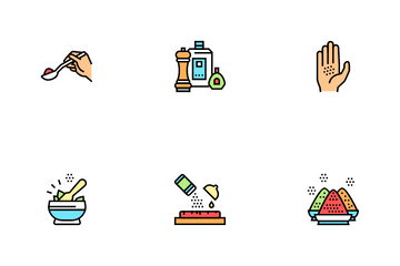 Spice Condiment Herb Icon Pack
