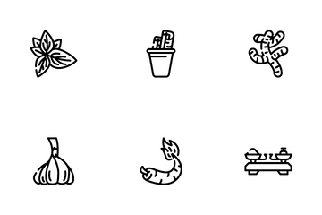 Spice Vegetable Food Icon Pack