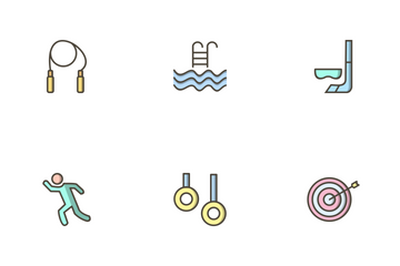 Sport And Games Filled Outline Icon Pack