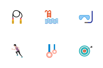 Sport And Games Flat Icon Pack
