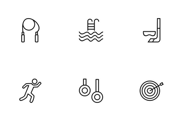 Sport And Games Line Icon Pack