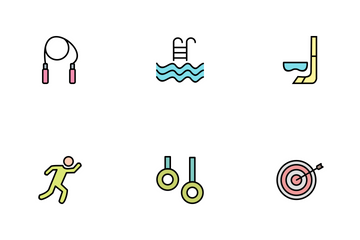 Sport And Games Line Filled Icon Pack