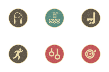 Sport And Games Vintage Icon Pack
