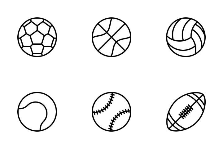 sport balls outline icon pack glyph juraj fonts svg sports outlines sedlak