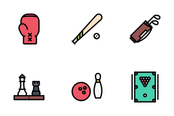 Sport Equipment Colored Icon Pack