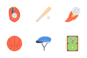 Sport Equipment Flat Icon Pack