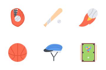 Sport Equipment Flat Icon Pack