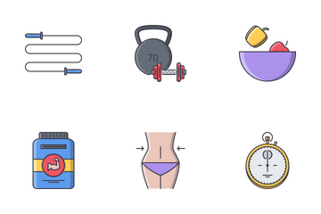 Sport Filled Outline Icon Pack