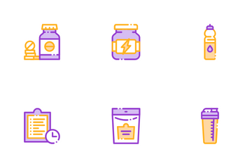 Sport Nutrition Cells Icon Pack