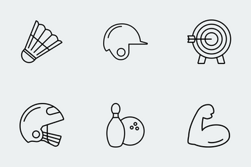 Sports & Activities - Thin Icon Pack