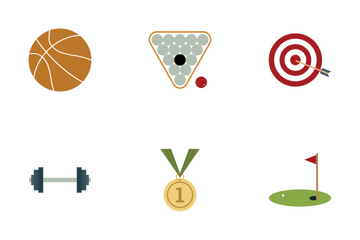 Sports And Games Vectors Icon Pack