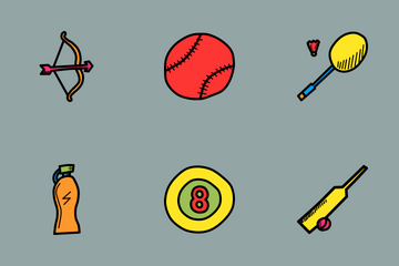 Sports Doodles Icon Pack