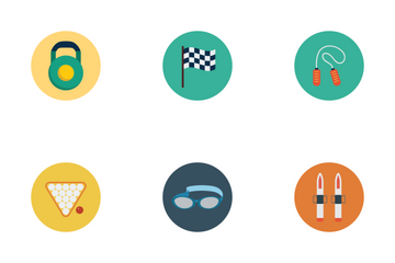 Sports Flat Icons Icon Pack