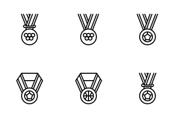 Sports Medals (outline) Icon Pack