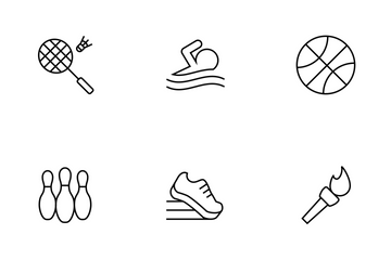 Sports Thinline Icon Pack