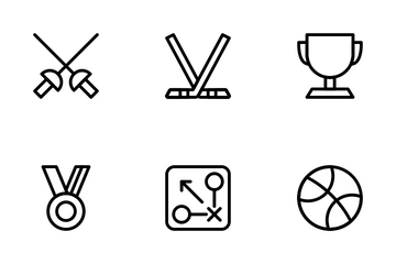 Sporty Line Icon Pack
