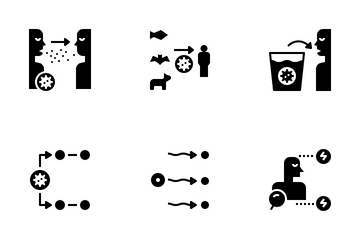 Spread Of Disease Icon Pack