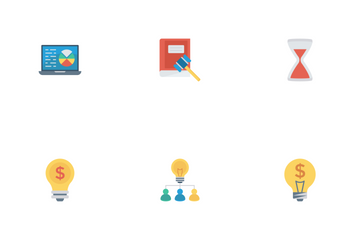 Startup & Business Flat Icons Icon Pack