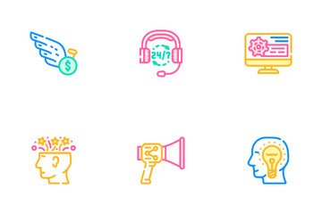 Startup Business Work Icon Pack