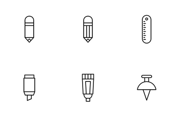 Stationery And Design Tools Icon Pack