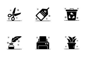 Stationery And Office Equipment Icon Pack