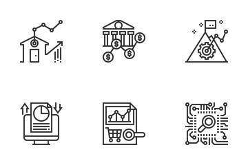 Statistical Analytics Icon Pack