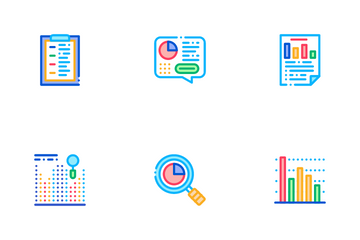 Statistician Assistant Icon Pack