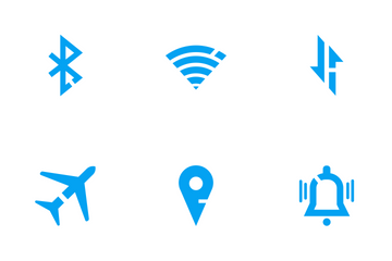 Status Bar Blue Fill Icon Pack