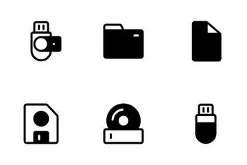 Storage Glyph Icon Pack