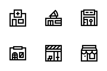 Stores And Shops Icon Pack
