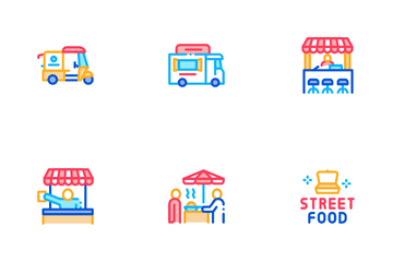 Street Food And Drink Icon Pack