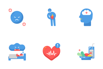 Stress Management Flat - Relaxation Icon Pack