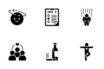 Stress Management Solid - Relaxation Icon Pack