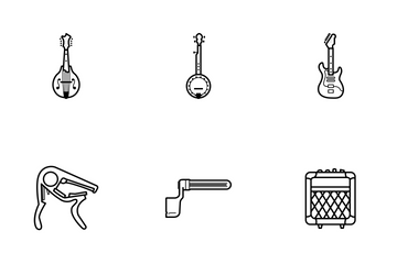 String Instruments & Accessories - Line Icon Pack