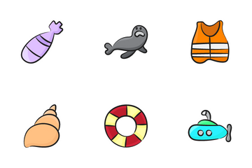 Submarines And Sealife Icon Pack