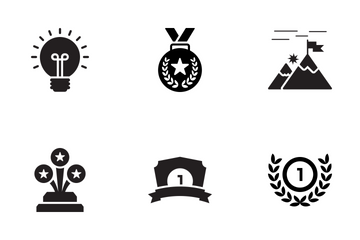 Success Glyph Icons Icon Pack