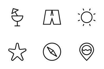 Summer And Beach Icons Icon Pack