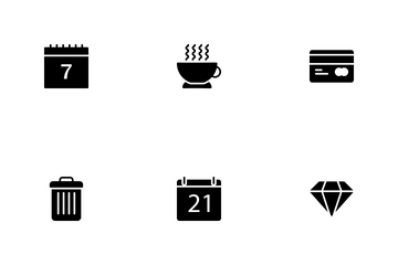 Summer And Holidays Glyphs Vol 5 Icon Pack
