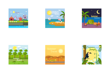 Summer Background Icon Pack
