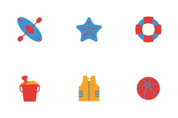 Summer Time And Holiday Icon Pack
