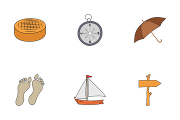 Summer Vector Hand Drawn Doodles Icon Pack
