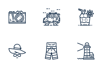Summertime Vacation Icon Pack