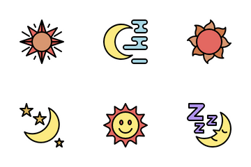 Sun And Moon Icon Pack