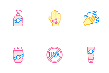 Sunscreen Protection Icon Pack