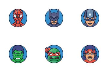 Superheroes And Villains Emoji Icon Pack