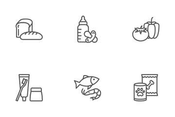 Supermarket Departments Icon Pack